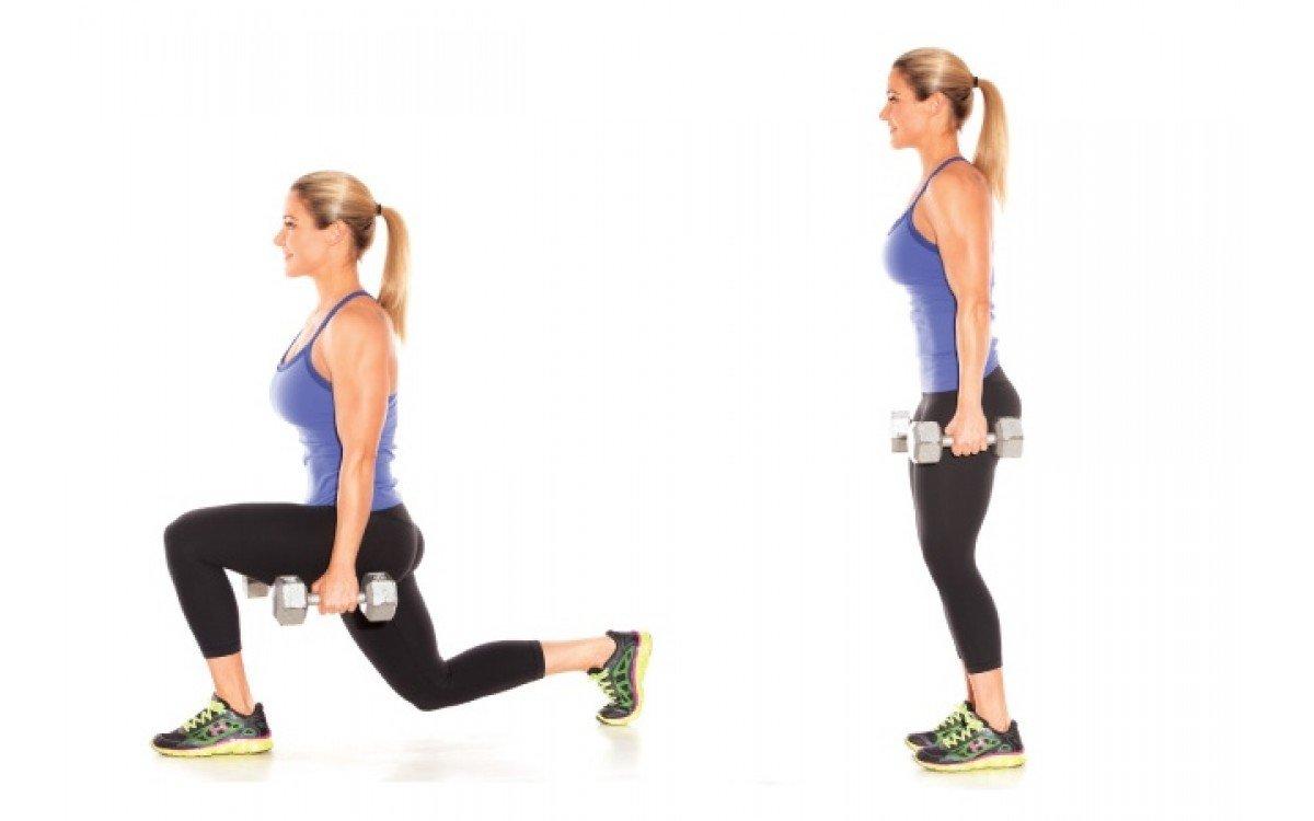 5 упражнений с гантелями для мышц ног