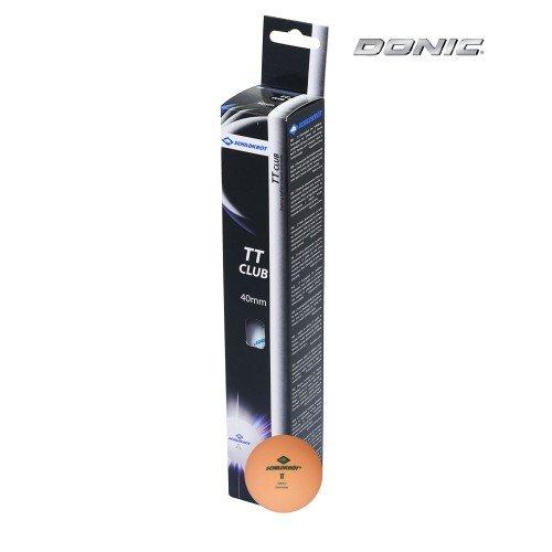 Мячики для настольного тенниса DONIC 2T-CLUB, 6 штук, оранжевый недорого купить онлайн