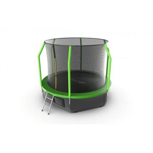 EVO JUMP Cosmo 10ft (Green) + Lower net. Батут с внутренней сеткой и лестницей, диаметр 10ft (зеленый) + нижняя сеть недорого купить онлайн