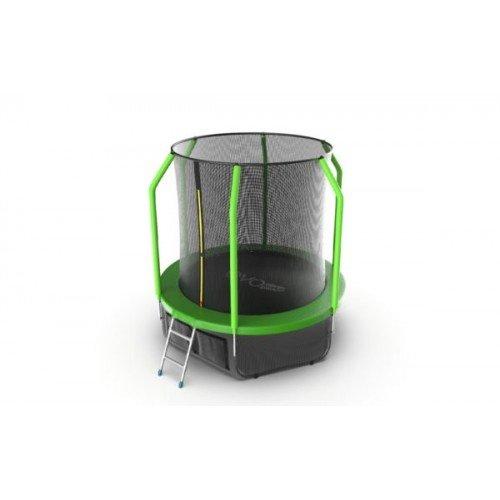 EVO JUMP Cosmo 6ft (Green) + Lower net. Батут с внутренней сеткой и лестницей, диаметр 6ft (зеленый) + нижняя сеть недорого купить онлайн