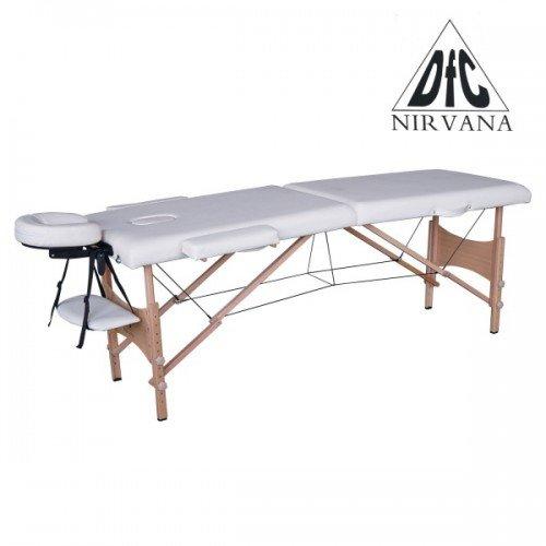 Массажный стол DFC NIRVANA, Optima, дерев. ножки, цвет кремовый (Cream) недорого купить онлайн
